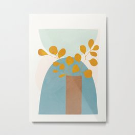 Soft Abstract Shapes 03 Metal Print