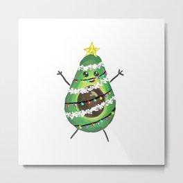 Avocado christmas Metal Print