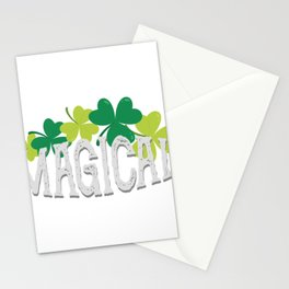 Magical Love Unicorn St Patricks Day Kids Girl Women Stationery Cards