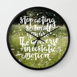 rumi field Wall Clock