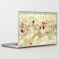 poem Laptop & iPad Skins featuring A POPPY  POEM by Stephanie Koehl