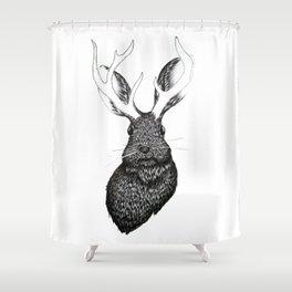 The Jackalope Shower Curtain