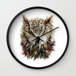 Owl Face Grunge Wall Clock