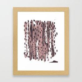 Rose and Dark Violet Framed Art Print