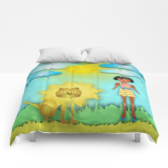 The girl and the lion Comforters