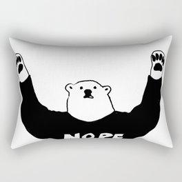 NOPE BEAR Rectangular Pillow