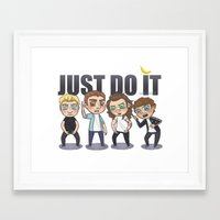 cyrilliart Framed Art Prints featuring Just 1Do It by Cyrilliart