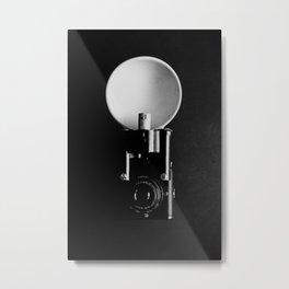 Black and white vintage camera photograph Metal Print