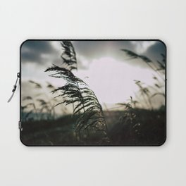 Sun sets at the beach Laptop Sleeve