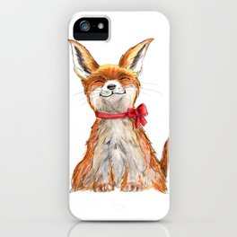 Smiling Fox Watercolour iPhone Case