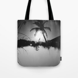 Palm trees and Birches - Upside Up II Tote Bag
