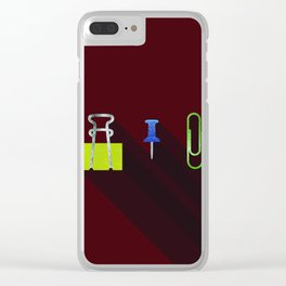 Paper Clip Tack Clear iPhone Case