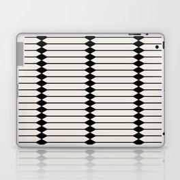 Minimal Geometric Pattern - Black and White Laptop & iPad Skin