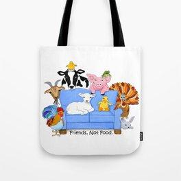 Friends, Not Food. Tote Bag