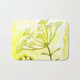 Tansy and Great mullein Bath Mat