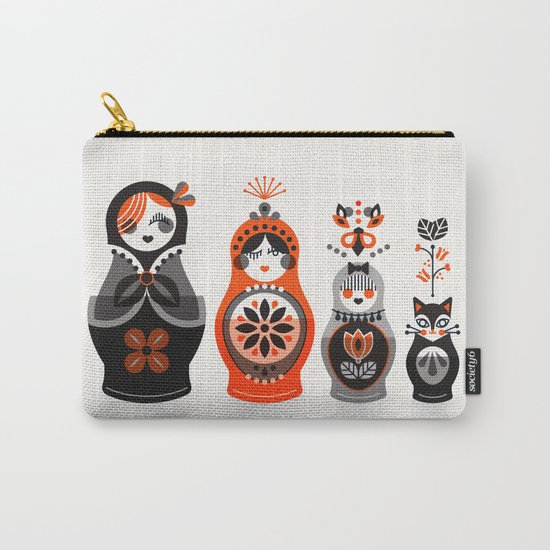 Russian Nesting Dolls – Red & Black Carry-All Pouch