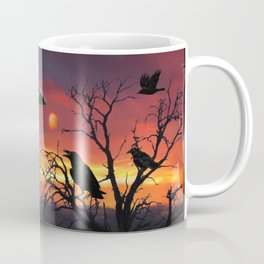 Raven Sunset Coffee Mug