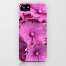Hydrangea - Frilly In Pink - No_2075 iPhone Case