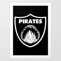 pirates Art Prints featuring Pirates  by Buby87