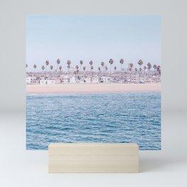 Vintage Newport Beach Print {3 of 4} | Photography Ocean Palm Trees Cool Blue Tropical Summer Sky Mini Art Print