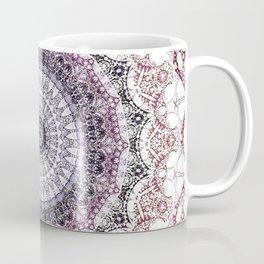 Bohemian White Detailed Mandala Design Coffee Mug