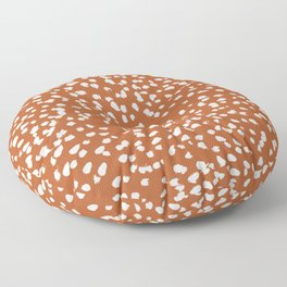 Rust dots - painted dots, terracotta, clay, earth, earth toned, boho, brown, brown dots, rust orange, painted dots Floor Pillow