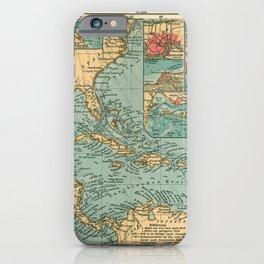 See Atlas 1906 - German Sea Atlas - West Indies and North America: Panama, Havana, New Orleans iPhone Case