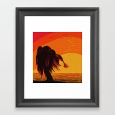 The Face in the Willow Framed Art Print