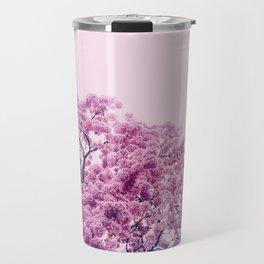 Cascade of pink flowers Travel Mug