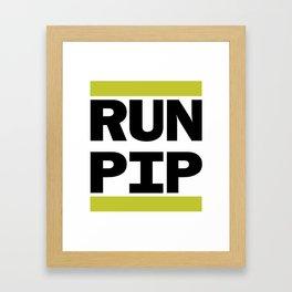 RUN PIP Framed Art Print
