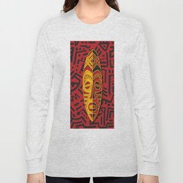 African Tribal Pattern No. 44 Long Sleeve T-shirt