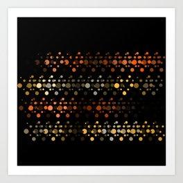 Abstact OrangeYellow Art Print