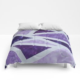 Purple Mosaic Comforters
