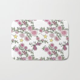 Project 52 | Pale Roses on White Bath Mat