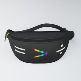 Equality is Greater Than Division Fanny Pack