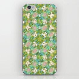 Vintage Floral Print Pattern iPhone Skin