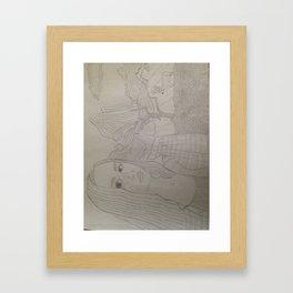 Portrait & Landscape Line Drawing Framed Art Print