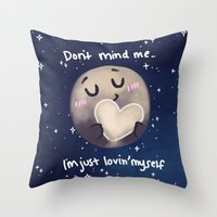 enerjax Throw Pillows featuring Pluto - I love myself by enerjax