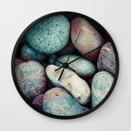 "Speckled ""Easter Egg"" Colorful Rock Collection Wall Clock"