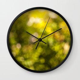 Beautiful bokeh Wall Clock