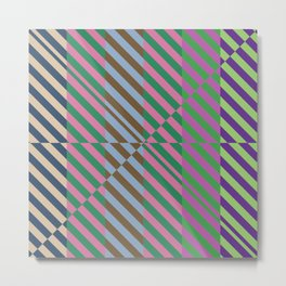 Broken Abstract Art (80s Fashion Aesthetics) Metal Print