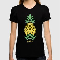 Pineapple Womens Fitted Tee Black LARGE