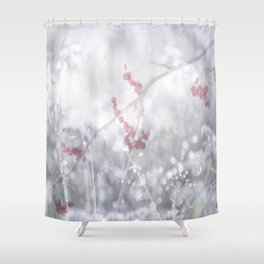 Winter Scene Rowan Berries With Snow And Bokeh #decor #buyart #society6 Shower Curtain