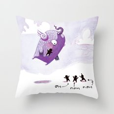 People Eater Throw Pillow
