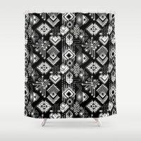 lunar Shower Curtains featuring Lunar Gems by michiko_design