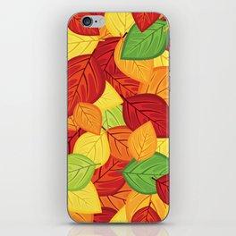 Autumn leaves #8 iPhone Skin