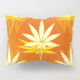 Cannabis Leaf Ascending Pillow Sham