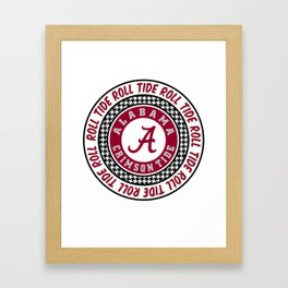 Alabama University Roll Tide Crimson Tide Framed Art Print