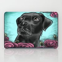 lab iPad Cases featuring Black Lab... by Lily Fitch