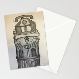 Antique Telephone on Pedestal Stationery Cards